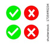 checkmark cross icons isolated...