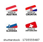 set of four austrian  croatian  ... | Shutterstock .eps vector #1735555487