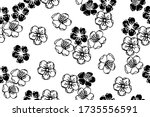 seamless pattern with bloom... | Shutterstock .eps vector #1735556591