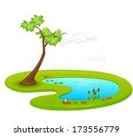 pond   illustration | Shutterstock .eps vector #173556779