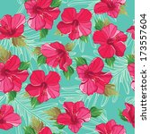 floral seamless pattern with... | Shutterstock . vector #173557604
