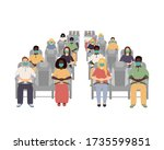 people black and white...   Shutterstock .eps vector #1735599851