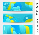 abstract vector wavy pattern... | Shutterstock .eps vector #1735615424