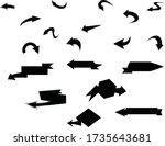 arrows design. hand drawn arrow ... | Shutterstock .eps vector #1735643681