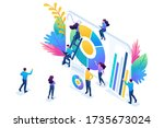 isometric concept young... | Shutterstock .eps vector #1735673024