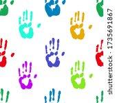 prints of human hands seamless...   Shutterstock .eps vector #1735691867