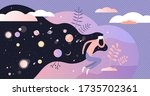 dreams vector illustration.... | Shutterstock .eps vector #1735702361