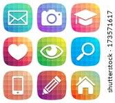 trendy colorful icon set 1....