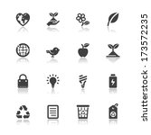 ecology icons with white... | Shutterstock .eps vector #173572235