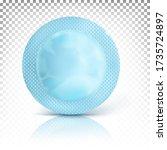 blue round mock up packaging... | Shutterstock .eps vector #1735724897