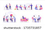 business people working... | Shutterstock .eps vector #1735731857