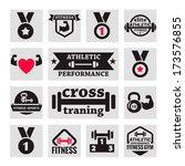 elegant fitness and health... | Shutterstock .eps vector #173576855