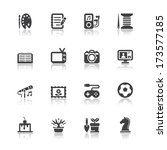 hobbies icons with white... | Shutterstock .eps vector #173577185