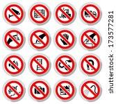 set icons prohibited symbols... | Shutterstock .eps vector #173577281