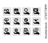 hand concept vector icons set. | Shutterstock .eps vector #173577899