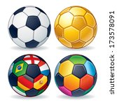 soccer ball icons. classic...