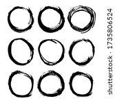 round frames  grunge textured... | Shutterstock .eps vector #1735806524