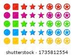 colored cartoon stars game...
