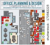 office space planning and... | Shutterstock .eps vector #173582225