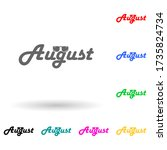 august multi color style icon....