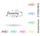 january multi color style icon. ...