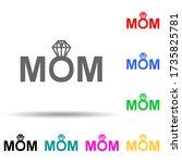 mom diamond multi color style...