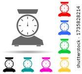 scales multi color style icon....