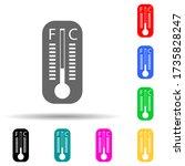 mercury thermometer multi color ...