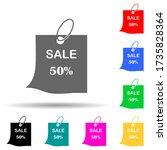 discount tag 50 multi color...
