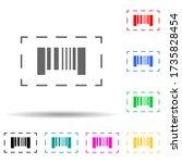bar code multi color style icon....