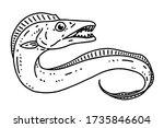hairtail cutlassfish . vector... | Shutterstock .eps vector #1735846604