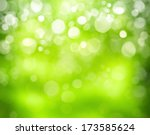 Sunny Abstract Green Nature...