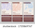 collection of chocolate... | Shutterstock .eps vector #1735869767