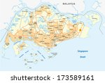 singapore map   Shutterstock .eps vector #173589161