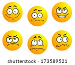 different smiles expressions... | Shutterstock .eps vector #173589521