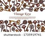 Vintage Keys Vector Sketch ...