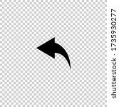 back arrow icon.reply icon.undo ...   Shutterstock .eps vector #1735930277