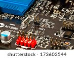 laptop motherboard closeup   Shutterstock . vector #173602544