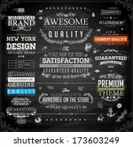 vector set of calligraphic... | Shutterstock .eps vector #173603249
