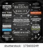 vector set of calligraphic... | Shutterstock .eps vector #173603249