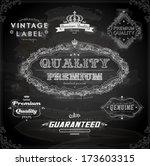vector set of calligraphic... | Shutterstock .eps vector #173603315