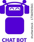 robot icon. concept chat bot...   Shutterstock .eps vector #1736050361