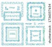 vector set of calligraphic... | Shutterstock .eps vector #1736057654