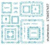 vector set of calligraphic... | Shutterstock .eps vector #1736057657