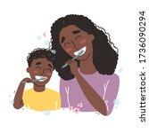vector illustration of mother...   Shutterstock .eps vector #1736090294