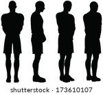 isolated poses of soccer... | Shutterstock .eps vector #173610107