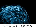 best internet concept of global ...   Shutterstock . vector #173610974