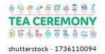 tea ceremony tradition minimal... | Shutterstock .eps vector #1736110094