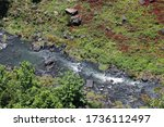 Aerial View Of A Brook Gurglin...