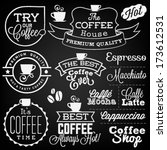 collection of retro coffee... | Shutterstock .eps vector #173612531